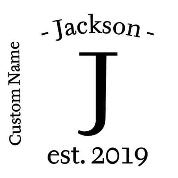 Custom Family Monogram Last Name & Year